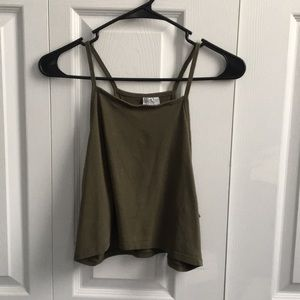 H&M Halter Crop Top - Olive Green Color